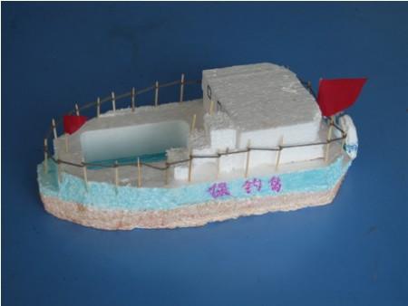 如何制作简单手工泡沫船只模型