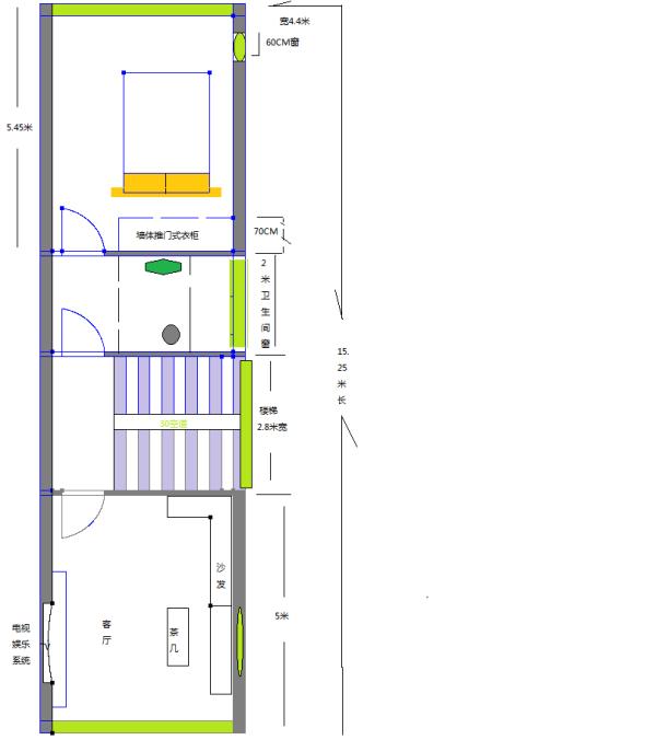 长13米宽4米房屋6层设计图