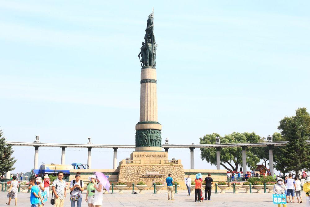 哈尔滨防洪胜利纪念塔图片