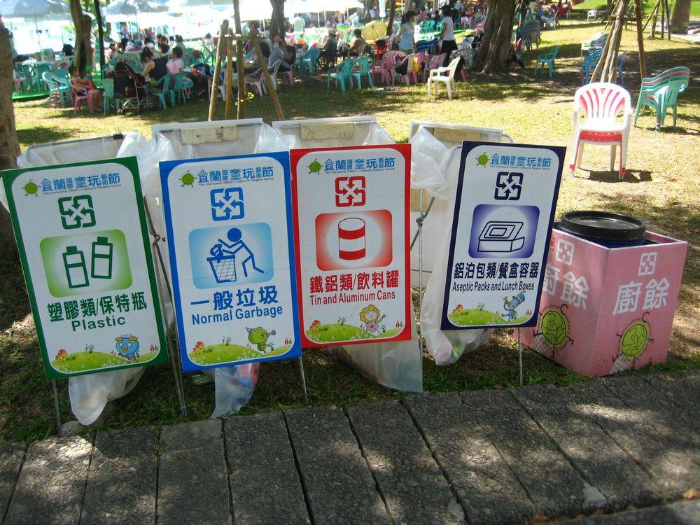 垃圾分类,可爱的垃圾箱.图片