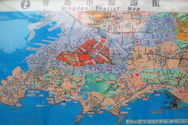 青岛地图图片