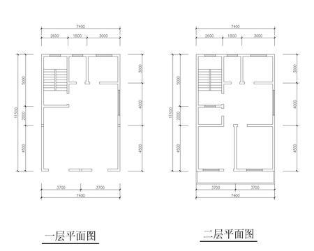 求自建房户型平面设计图:长14米,宽8米坐北朝南,两层.