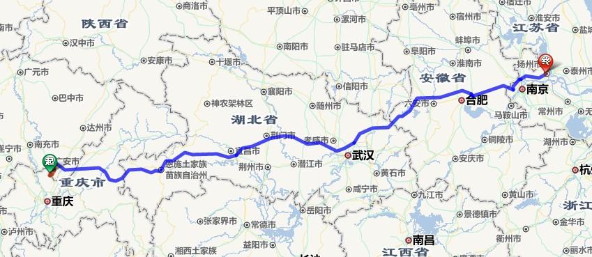 从重庆合川区到江苏扬州市开小轿车走高速公路一面要交多少过路费?