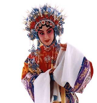 京剧贵妃脸怎么画图片