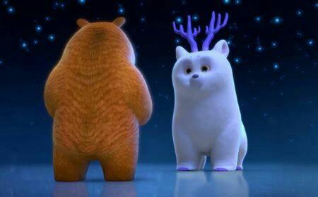 求熊出没之雪岭熊风团子在影片中的截图,要做手机壁纸