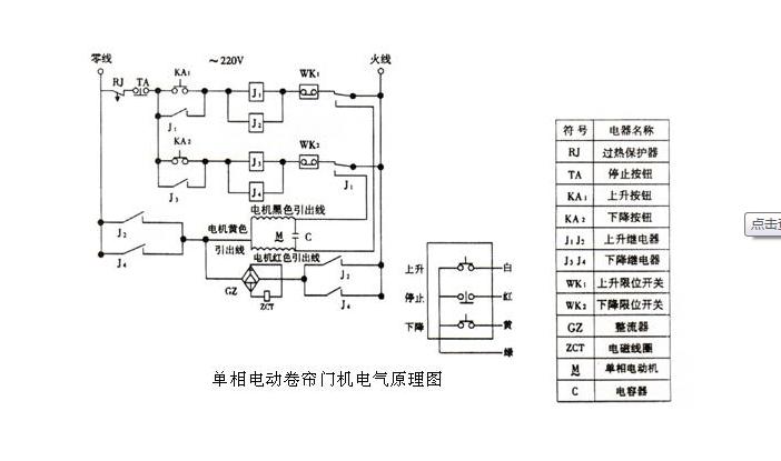 """展开全部   电动卷闸门电气原理图如下所示:   卷闸门又称为""""卷帘门"""