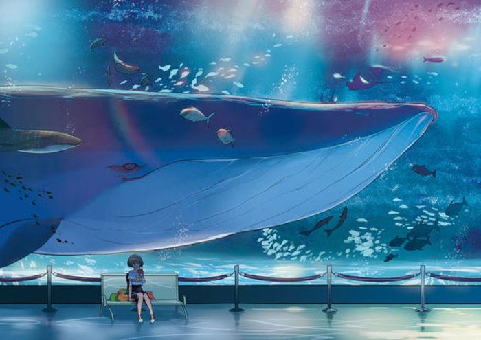 求一些可以做桌面壁纸的唯美的蓝鲸图片图片