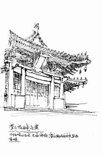求几张日本建筑的钢笔画,清晰点.