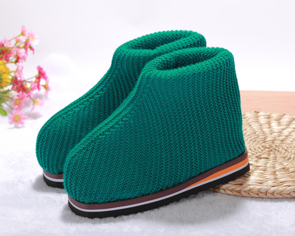 手工编织高帮棉鞋起针表 40码的起多少针织多少行 头尾丢针数 图上