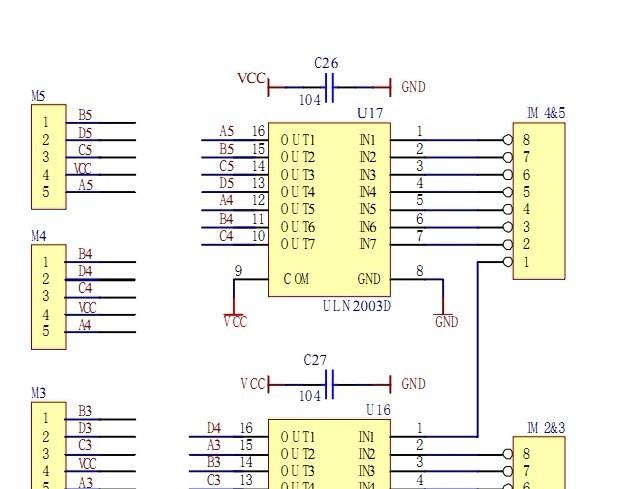 51单片机控制步进电机的原理图 或电路图 什么的.