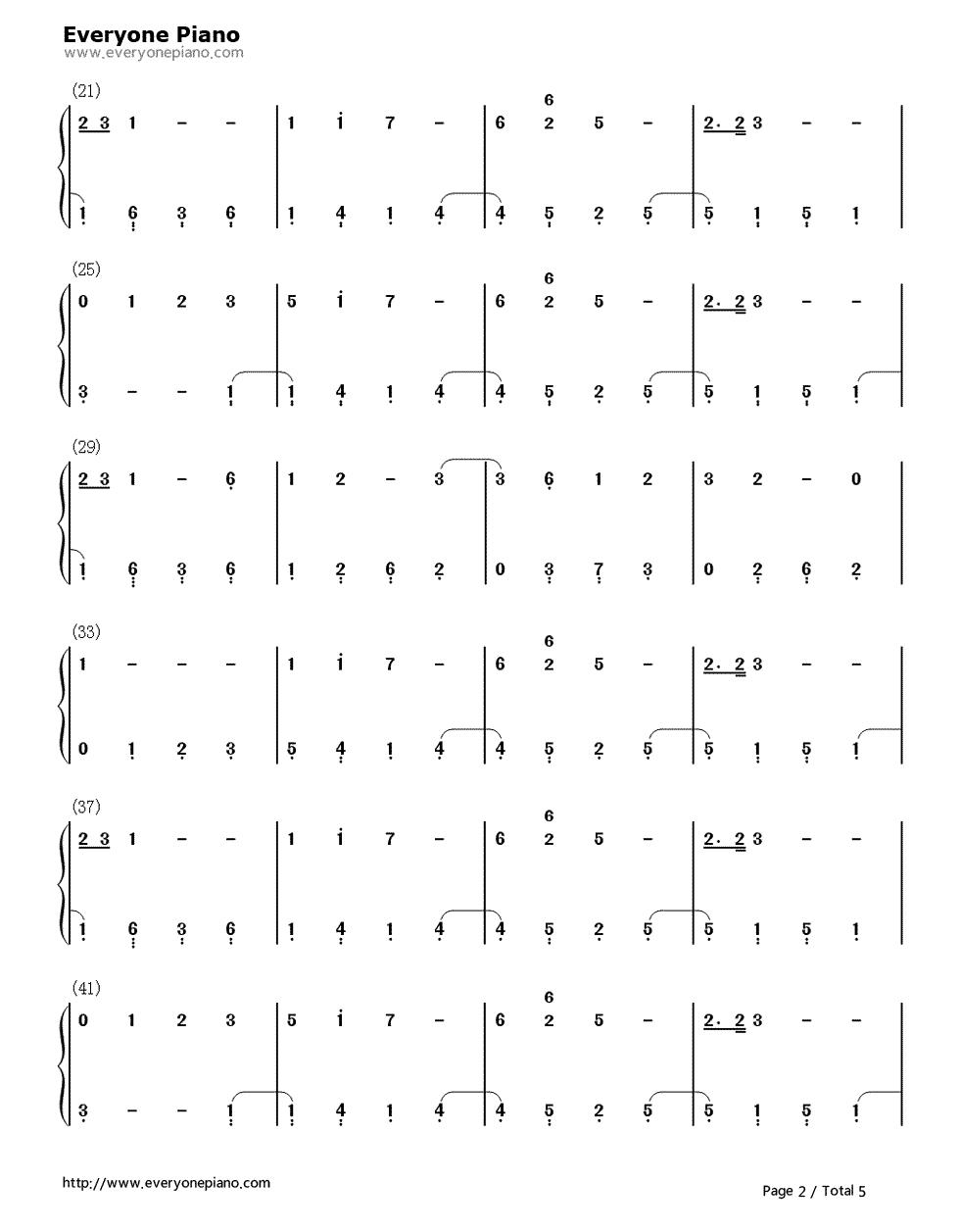 my suol钢琴简谱