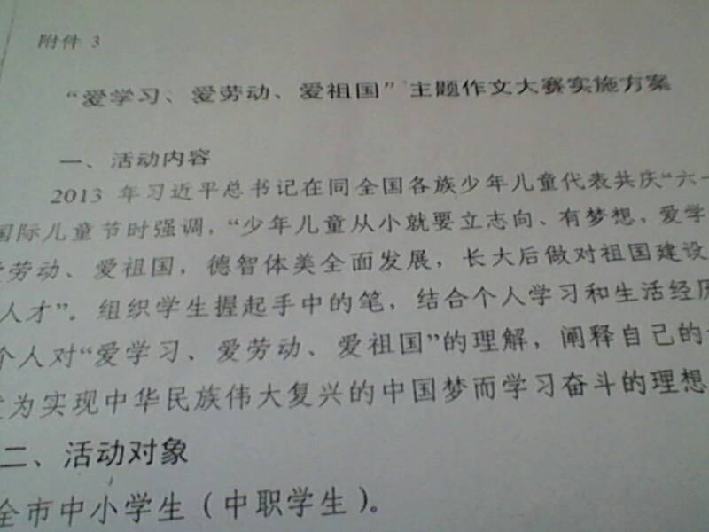 作文:中国梦800字