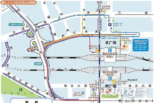 重庆北站南广场的地理位置