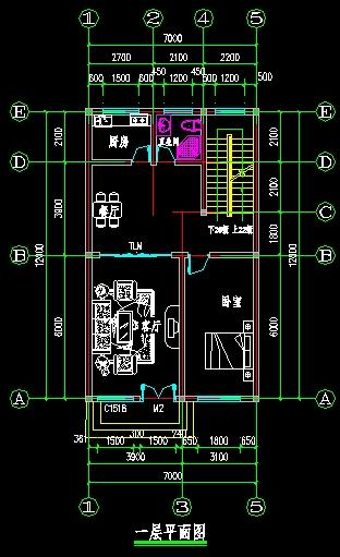 农村一层房屋设计图80——100平米
