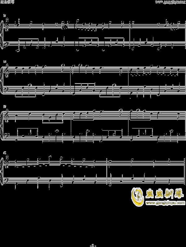 魔法城堡钢琴谱