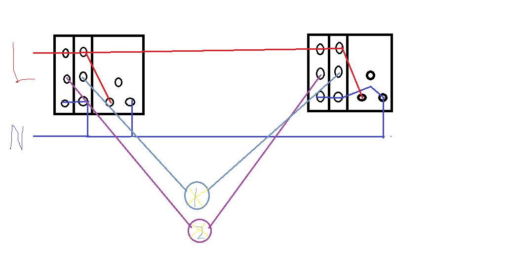 还有这种双开双控的接线方式,这个要检查你的零线有没有进到开关那边