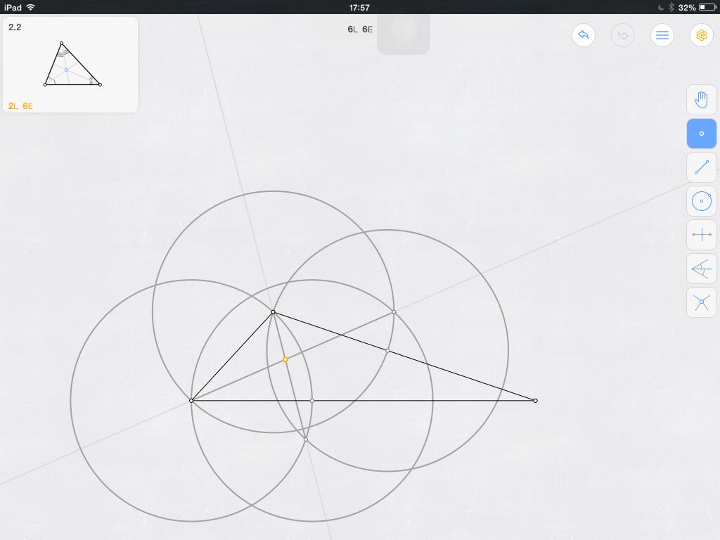 求用尺规作图最少步骤找出三角形内心的方法 最好带图
