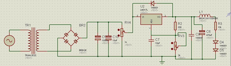 直流稳压电源0-10v电路图