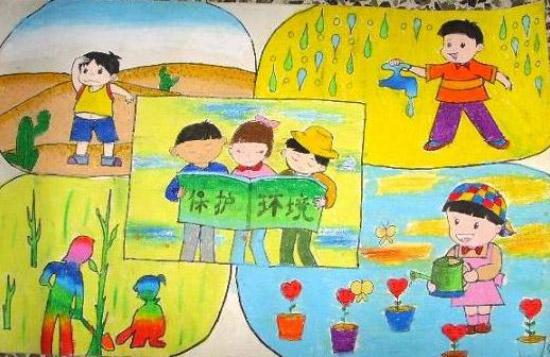 """以""""保护环境,节约用地""""为主题的画儿童画怎么画?图片"""