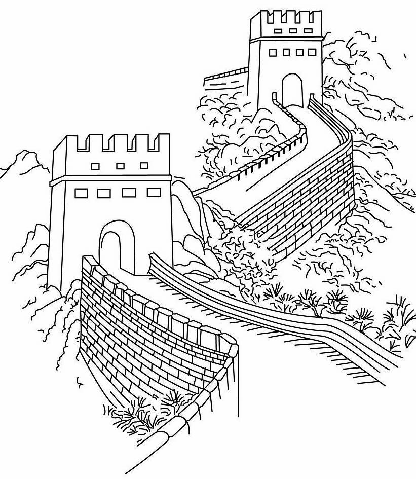 长城烽火台儿童手绘