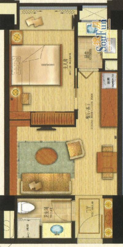 超小长方形户型长8米7,宽4米5,可以装二室一厅一卫一厨吗?
