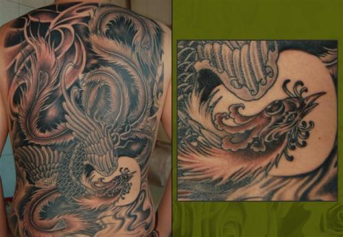 男人可以纹凤凰纹身吗?图片