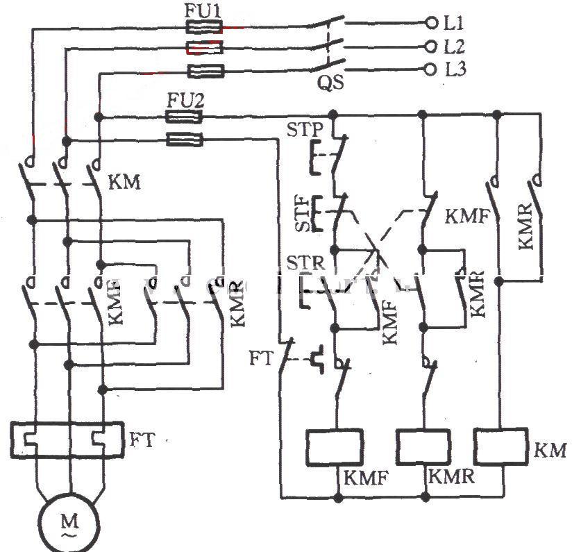 2,热继电器动作后,正反转均不能操作.