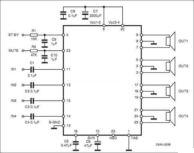 tda7562功放电路图