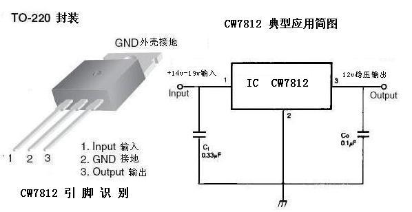 cw7812稳压三极管的工作电压:电流:输出电压是多少