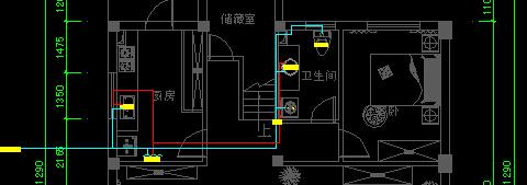 水路和电路的图,按实际布线去布置就可以了,平顶立面插座弱电的也一样