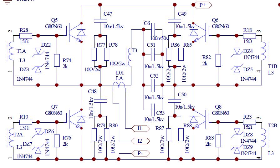 谁能帮我看看这个电路图啊,电动汽车充电器的一部分