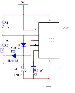 555多谐振荡器电路