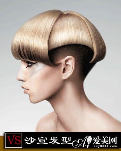 沙宣亚麻创意发型图短图片