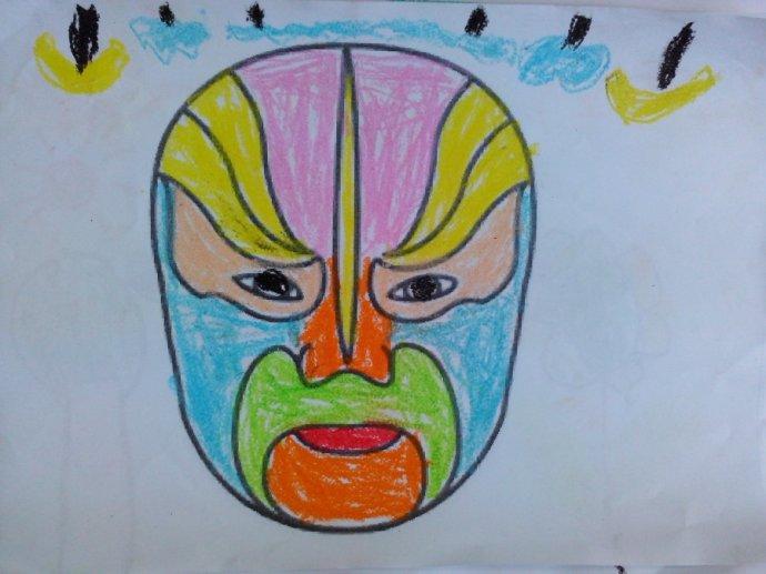 儿童脸谱简笔画图片