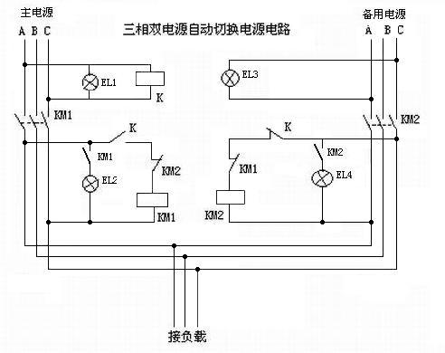 380v三相双电源自动切换电柜电路图