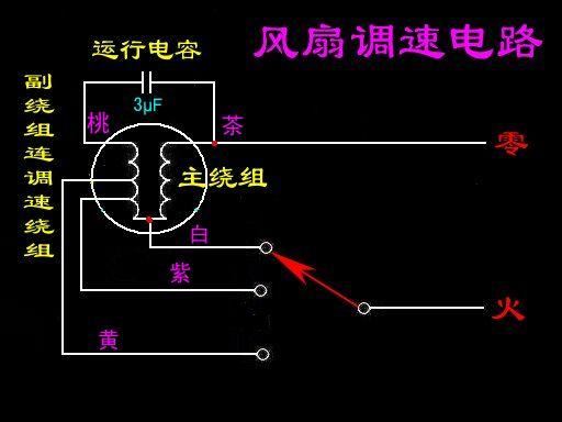 五线单相电机如何接线?