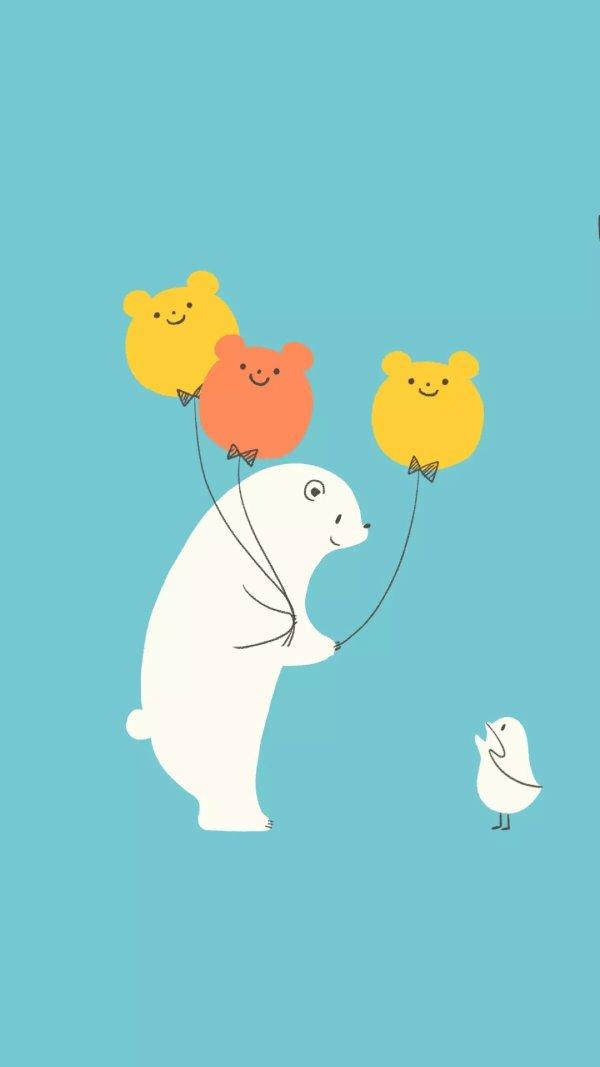 求北极熊卡通图