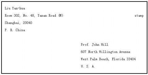 美国信封的书写格式是什么呢?(有图片更好)图片