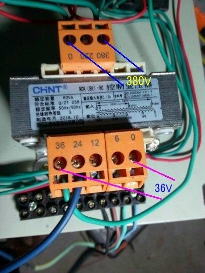 380v转36v的交流控制变压器接线图怎么接请高手指教