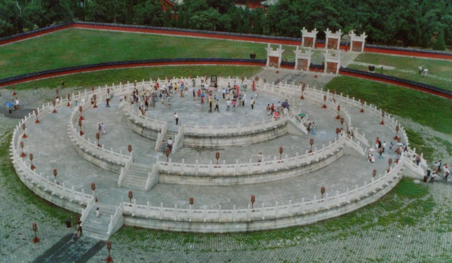 天坛圜丘平面图