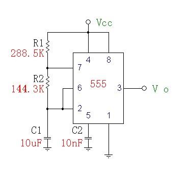 如何利用555时基电路实现led灯闪烁