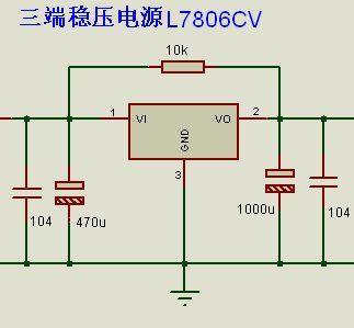 l7806三端稳压三极管,是输出电压为6v的三端稳压器,属于78稳压系列