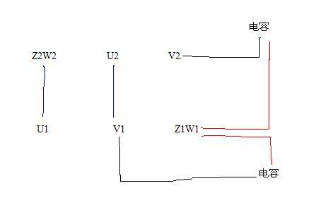 单项双值电容异步电动机 怎么接电源线