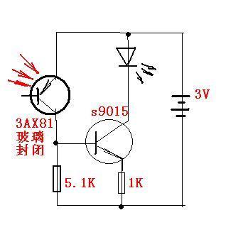 也可选用正式的光敏二,三极管(2cu,3cu),或负系数的光敏电阻.