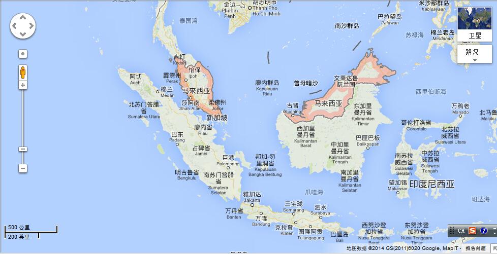 马来西亚在那里 求地图图片