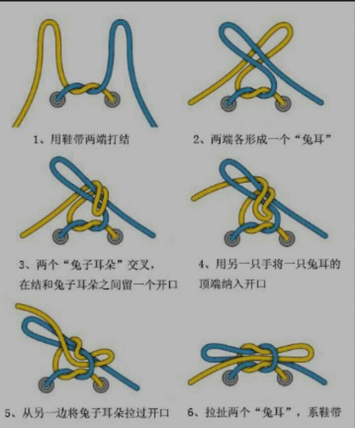 描述自己系鞋带 至少十个步骤