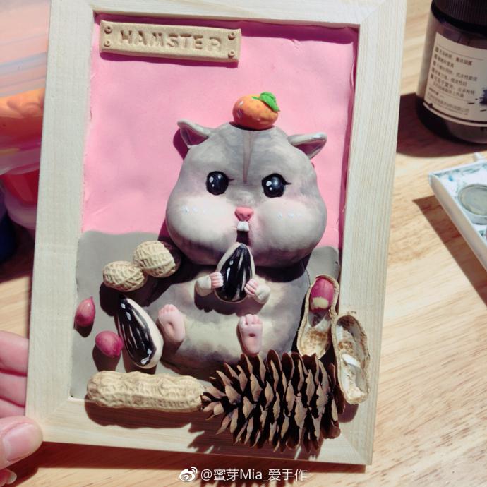 那种立体的小仓鼠粘土怎么制作?