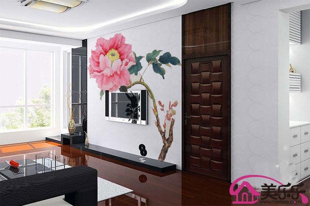 电视背景墙手绘图案