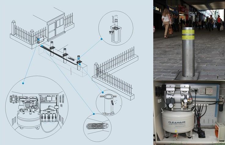 1,电动升降柱结构:由升降柱柱体,液压传动站,自动检控器三部分组成图片