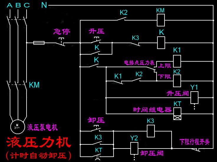 电接点压力表和js11s时间继电器接线图